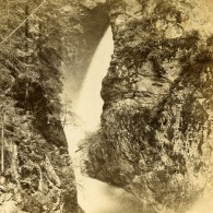 France Alpes Gorges De La Diosaz Ancienne Photo Stereo Andrieu Block 1875 - Stereoscopic