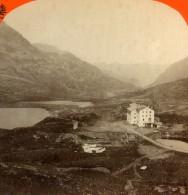 Autriche Alpes Tirol Tyrol Hotel De Montagne Ancienne Photo Stereo Unterberger 1875 - Stereoscopic