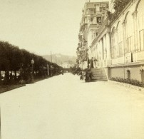 Suisse Lucerne Luzern Le Casino Ancienne Photo Stereo 1880 - Stereoscopic