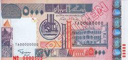 SUDAN 5000 DINARS 2002 P-63 SPECIMEN UNC */* - Soudan