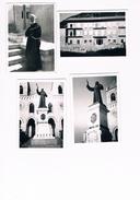 F199 - Gibilmanna Cefalù, 4 Foto 1962 Del Pensionato Del Superiore E Della Statua Davanti La Chiesa - Luoghi