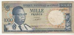 Belgian Congo 1000 Francs 15-12-1961 - [ 5] Belgian Congo