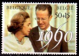 1990 Belgium / Belgique -40 Years Of Marriage Of King Bouldouine And Queen Fabiona - 1 V Paper - MNH** MI 2448 - Ongebruikt
