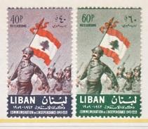 LIBAN  C 269-70   **   SOLDIER    FLAG - Lebanon