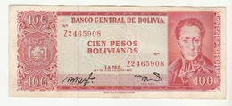 Bolivia 100 Pesos 13-07-1962 * Some Pin Holes - Bolivia