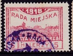 POLAND Przedborz 1918 Local Fi 15B Used Forgery - ....-1919 Provisional Government