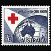 AUSTRALIA 1954 - Scott# 271 Red Cross Set Of 1 MNH - 1952-65 Elizabeth II : Pre-Decimals