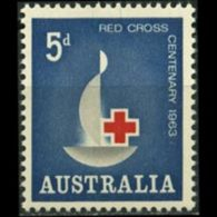 AUSTRALIA 1963 - Scott# 354 Red Cross Cent. Set Of 1 MNH - 1952-65 Elizabeth II : Pre-Decimals