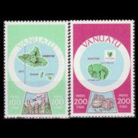 VANUATU 1980 - Scott# 290-1 Maps 100-200f MNH - Vanuatu (1980-...)