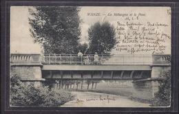 CPA BELGIQUE - WANZE - La Méhaigne Et Le Pont - TB PLAN ANIMATION - Wanze