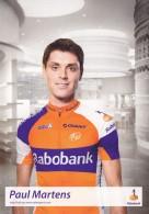CYCLISME - WIELRENNEN : RABOBANK - PAUL MARTENS - Cyclisme