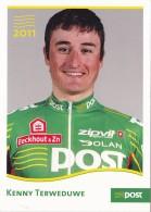 CYCLISME - WIELRENNEN : 2011 - POST - KENNY TERWEDUWE - Cycling