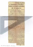 L'Athénée D'Ixelles Honore Ses Morts Glorieux De La Guerre (Article In La Nation Belge Du 9/11/1946) - Autres