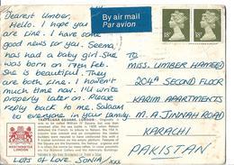 Great Britain Post Card Trafalgar Square London, 18p - 1952-.... (Elizabeth II)