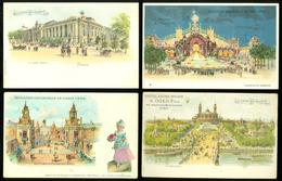 Beau Lot De 60 Cartes Postales De France Paris Exposition 1900   Mooi Lot Van 60 Postkaarten Van Frankrijk Parijs Expo
