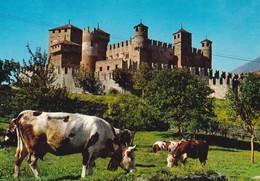 ITALIE---vallée D'AOSTE Pittoresque--castello Di Fenis-sec.XIV--voir 2 Scans - Italia
