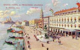 [DC9807] CPA - VENEZIA - SAVOIA HOTEL & PRINCESSE JOLANDA - M. INGANNI - Non Viaggiata - Old Postcard - Hotels & Restaurants