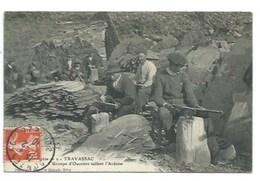 19 - TRAVASSAC - Groupe D'Ouvriers Taillant L'Ardoise - CPA - Unclassified