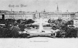 [DC9812] CPA - AUSTRIA - VIENNA - GRUSS AUS WIEN! DER SCHWAZENBERGPLATZ - Non Viaggiata - Old Postcard - Altri