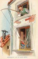 [DC9827] CPA - HUMOR - ALLENAMENTI CON LA NUOVA CANNA ...  - Non Viaggiata - Old Postcard - Humor