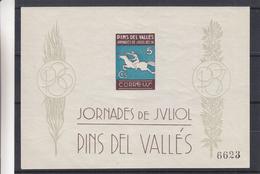 Andorre Espagnol - Bloc Spécial De 1936 ** - MNH - Journée De Juliol - Pins Del Vallès - Chevaux - épée - Unused Stamps