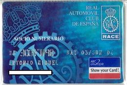 Credit Card - Carte De Credit - RACE - Geldkarten (Ablauf Min. 10 Jahre)