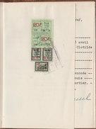 1959 Beau Carnet Mariage 1 Rouergat Trouwboekje Couverture Cuir Enluminure St Michel Et Dragon Timbres Fiscaux Bruxelles - Revenue Stamps