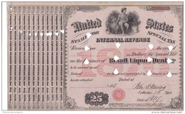 United States International Revenue Stamp For Special Tax Retail Liquor Dealer 25 $ 1876 Doc.132 - Stati Uniti