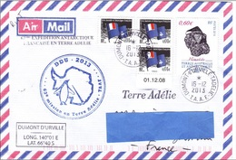 Z3] Enveloppe Cover TAAF FAT Antarctique Antarctic Polaire Polar Mineral Hematite Carte Map Pingouin Penguin - Minéraux