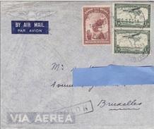Z2] Enveloppe Cover 1935 Belgish Congo Belge Aerien Air Mail Avion Plane Indigene Indegineous - Congo Belge