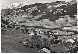 - FRANCE (74) - CPSM Ayant Voyagé PRAZ-SUR-ARLY 1957 - Vue Générale Et Le Mont-Blanc - Editions JANSOL 508 - - France