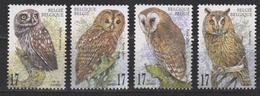 Belgie , Belgique, Belgium, Belgica Nr 2857-2860 MNH 1999  ; Uil Owl, Hibou, Eul, Uilen NOW MANY BIRD STAMPS - Owls
