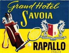 1Hotel Label Pub Grand Hotel Savoia Rapallo Italia GOLF TENNIS - Other