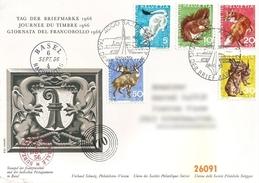 1966 - JOURNEE DU TIMBRE BÂLE - VC: 7.00 CHF - FDC