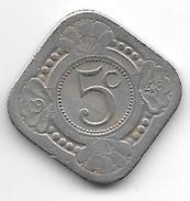 *curacao 5 Cents 1948    Km 42 Vf+ - Curaçao