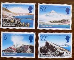 FALKLAND  ISLAND DEPENDENCIES - GEORGIE DU SUD. VOLCANS, VOLCAN, Geologie, Yvert 137/40, MNH  ** Neuf Sans Charniere - Volcans