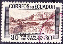 Ecuador - Cuenca Mit Tomebamba-Fluss (MiNr. 815) 1953 - Gest. Used Obl. - Equateur