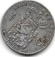 *curacao1/4 Gulden  1900    Km 35 Vf+ Catalog Val 2016 = 50,00$ - Curacao