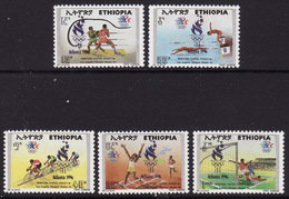 Ethiopia #1427-31, F-VF Mint NH ** 1996 Atlanta Summer Olympics - Summer 1996: Atlanta