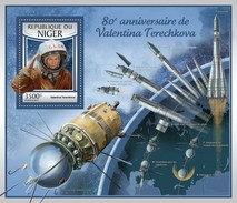 Niger. 2017 Valentina Tereshkova. (108b) - Space