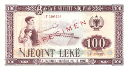 ALBANIE   100 Leke   1976   (specimen)   P. 46s2   UNC - Albanie