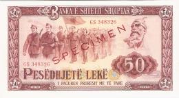 ALBANIE   50 Leke   1976   (specimen)   P. 45s2   UNC - Albanie