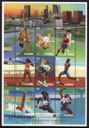 Gambia #1787 Sheet Of 9, F-VF Mint NH ** 1996 Atlanta Summer Olympics - Summer 1996: Atlanta