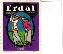 1 Poster Stamp Pub Erdal Shoe Polish GOLF - Other