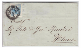 ITALIE -- LOMBARDO VENETIE -- LETTRE DE LENDINARA POUR MILAN --1855 - Lombardy-Venetia