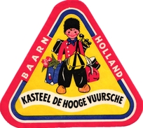 1 Hotel Label Etiquette  BAARN Holland Kasteel De Hooge Vuursche GOLF - Autres