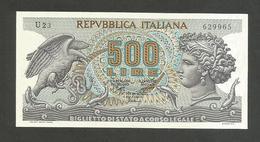 REPUBBLICA ITALIANA - 500 Lire ARETUSA (Decr. 23 / 02 / 1970) ITALIA - [ 2] 1946-… : Repubblica