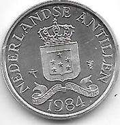 *netherlands Antilles  1 Cent 1984  Km 8a   Bu - Netherland Antilles