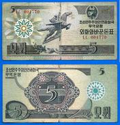 Coree Du Nord 5 Won 1988 Corée North Korea Prefix LC Cheval Que Prix + Port Horse Skrill Paypal Bitcoin OK - Corée Du Sud