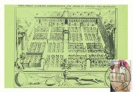 D29137 CARTE MAXIMUM CARD 1990 NETHERLANDS - HORTUS BOTANICUS LEIDEN UNIVERSITY CP ORIGINAL - Architettura